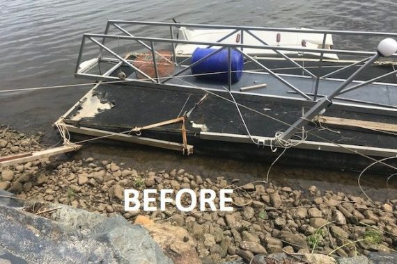 What happens if you do not maintain your pontoons walkway and carpet