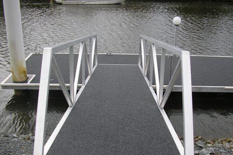 gangway piled pontoon
